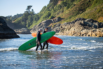 Surfing in Humboldt County